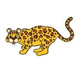Cute cartoon leopard Stock Image