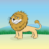 Cute cartoon lion Royalty Free Stock Image