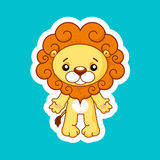 Cute cartoon lion Stock Images