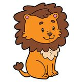 Cute cartoon lion character. Vector illustration of cute cartoon character for children and scrap book vector illustration