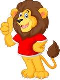 Cute cartoon lion giving thumb up Royalty Free Stock Photo