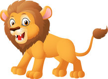 Cute cartoon lion posing Royalty Free Stock Photo