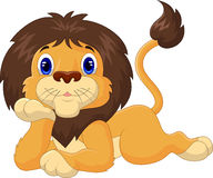 Cute cartoon lion relaxing Royalty Free Stock Photo