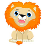Cute Cartoon Lion royalty free illustration