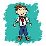 Cute cartoon little boy Stock Photos