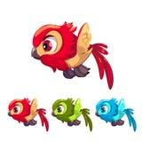 Cute cartoon little flying bird. Royalty Free Stock Photo