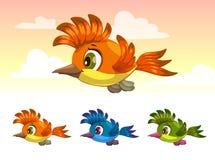 Cute cartoon little flying bird. Stock Photo