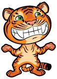 Cute cartoon little tiger Royalty Free Stock Photos
