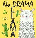 Cute cartoon llama alpaca vector graphic design set. Hand drawn llama character illustration stock illustration