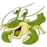 Cute cartoon lobster Royalty Free Stock Photography