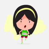 Cute cartoon of marathon runner Royalty Free Stock Image