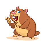 Cute cartoon marmot. Vector illustration with happy smiling groundhog character . Stock Photography
