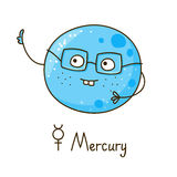 Cute cartoon Mercury isolated Royalty Free Stock Photography