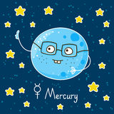 Cute cartoon Mercury Stock Photo