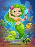 Cute cartoon mermaid Stock Photography
