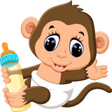 Cute Cartoon monkey Royalty Free Stock Photos