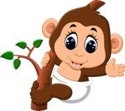 Cute Cartoon monkey Royalty Free Stock Images