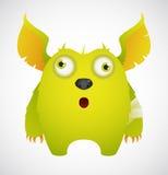 Cute Cartoon Monster. Cute Cartoon Green Monster Character vector illustration
