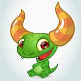 Cute cartoon monster dragon stock illustration