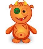 Cute cartoon monster. With horns Stock Photo