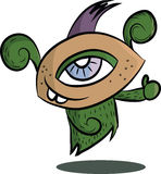 Cute cartoon monster with One Eye, no gradients. Stock Photography