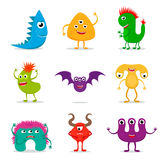 Cute cartoon monster set Royalty Free Stock Photo