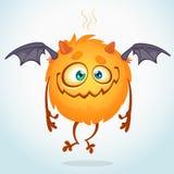 Cute cartoon monster. Vector character royalty free illustration