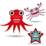 Cute cartoon Monster on a white background. Royalty Free Stock Photo