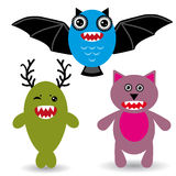 Cute cartoon Monster on a white background. Stock Photo