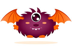 Cute cartoon monster with wings Royalty Free Stock Photography