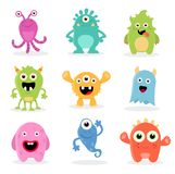Cute Cartoon Monsters vector illustration