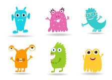 Cute Cartoon Monsters Royalty Free Stock Photos