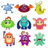 Cute cartoon monsters. Vector illustration isolated on white background royalty free illustration