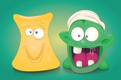 Cute Cartoon Monsters Vector set royalty free illustration