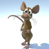 Cute Cartoon Mouse or Rat. A very cute cartoon mouse made out of plush Image contains a Clipping Path / Cutting Path for the main object royalty free illustration