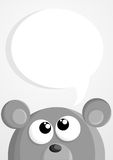 Cute cartoon mouse with speech bubble Stock Images