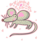 Cute cartoon mouse in vector. Cute cartoon mouse isolated in vector Royalty Free Stock Image