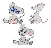 Cute cartoon mouse. vector illustration Stock Images