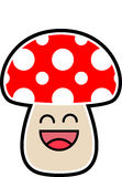 Cute cartoon mushroom Royalty Free Stock Photos