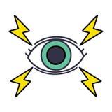 Cute cartoon mystic eye. A creative illustrated cute cartoon mystic eye royalty free illustration