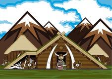 Cute Cartoon Norse Viking Royalty Free Stock Images