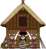 Cute Cartoon Norse Viking Stock Photo