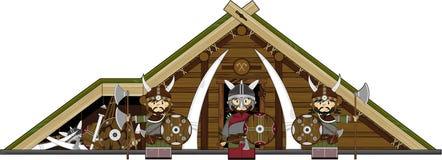 Cute Cartoon Norse Viking Royalty Free Stock Photos