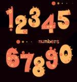 Cute cartoon numbers Royalty Free Stock Photo