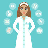 Cute cartoon nurse Royalty Free Stock Image