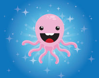 Cute cartoon octopus character Royalty Free Stock Photos
