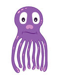 cute cartoon Octopus Vector Illustration Stock Images