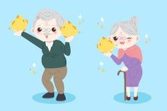 Cute cartoon old couple Royalty Free Stock Photos