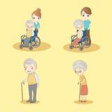 Cute cartoon old people Stock Image