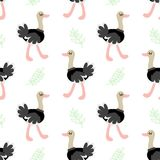 Cute cartoon ostrich Royalty Free Stock Images